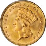 1887 Three-Dollar Gold Piece. MS-64 (PCGS).