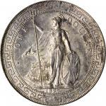 1897/6-B年英国贸易银元站洋一圆银币孟买铸币厂 GREAT BRITAIN. Trade Dollar, 1897/6-B. Bombay Mint. Victoria. PCGS MS-62.