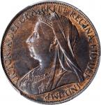 GREAT BRITAIN. Penny, 1900. London Mint. Victoria. PCGS MS-63 Brown Gold Shield.
