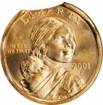 2001-P Sacagawea Dollar--Curved Clip and Rim Clip--MS-65 (ANACS). OH.