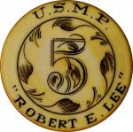 1870 Robert E. Lee Steamship Gambling Chip. Celluloid or similar material. 41.1 mm. About Uncirculat