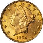 1896 Liberty Head Double Eagle. MS-63 (PCGS).