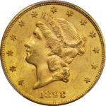 1898-S Liberty Head Double Eagle. MS-62 (PCGS).