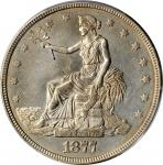 1877 Trade Dollar. Unc Details--Cleaned (PCGS).