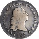 1795 Flowing Hair Silver Dollar. BB-20, B-2. Rarity-3. Two Leaves. VG Details--Cleaned (PCGS).