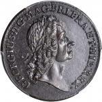 1723 Rosa Americana Twopence. Martin 3.3-E.11, W-1338. Rarity-6. AU-55 (PCGS).