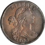 1803 Draped Bust Cent. S-245. Rarity-3. Small Date, Small Fraction. VF Details--Cleaned (PCGS).