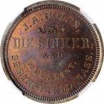 Undated (ca. 1862) U.S. Armory / J.A. Bolen store card muling. Copper. Musante JAB M/E-7. MS-63BN (N