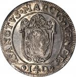 ITALY. Venice. Scudo, (1714-15)-AM. Giovanni Corner II (1709-22). NGC MS-64.