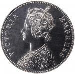 INDIA. Rupee Restrike, 1879-C. Calcutta Mint. Victoria. NGC PROOF-63.