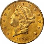 1890-CC Liberty Head Double Eagle. AU-58 (PCGS). CAC.