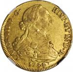 CHILE. 8 Escudos, 1784/4-SoDA. Charles III (1759-88). NGC EF-45.
