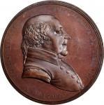 """1797"" (circa 1845) John Adams Indian Peace Medal. Copper, Bronzed. Third Size. First Reverse. Julia"