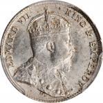 CEYLON. 10 Cents, 1910. London Mint. PCGS MS-62 Gold Shield.