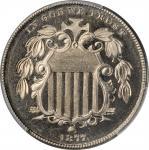 1877 Shield Nickel. Proof-65 Cameo (PCGS).