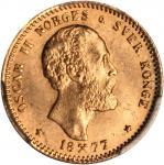 NORWAY. 10 Kroner, 1877. PCGS MS-65 Secure Holder.