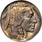 1921-S Buffalo Nickel. MS-64 (NGC).