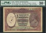 x Government of India, 50 Rupees, Calcutta, ND (1930) V/4 5J0480, lilac and pale green, crowned bust