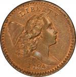 1794美国无杆版自由帽半分  PCGS MS 67