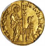 ITALY. Venice. Zecchino, ND. Marcantonio Memmo (1612-15). NGC MS-63.