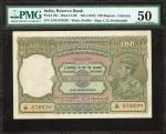 INDIA. Reserve Bank of India. 100 Rupees, ND (1943). P-20e. PMG About Uncirculated 50.