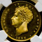 GREAT BRITAIN George IV ジョージ4世(1820~30) 2Pounds 1826 NGC-PF64 Cameo Proof UNC+