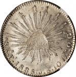 MEXICO. 8 Reales, 1838-Pi JS. San Luis Potosi Mint. NGC Unc Details--Spot Removed.