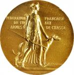 FRANCE. Tir aux Armees de Chasse Gold Award Medal, ND (ca. 1950). Paris Mint. UNCIRCULATED Details.