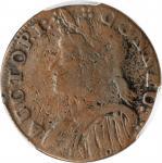 1787 Connecticut Copper. Miller 8-a.1, W-2845. Rarity-8. Mailed Bust Left. Fine-12 (PCGS).