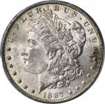 1887/6-O Morgan Silver Dollar. VAM-3. Top 100 Variety. MS-64 (PCGS).
