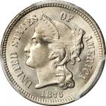 1875 Nickel Three-Cent Piece. MS-67 (PCGS). CAC.