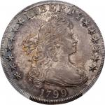 1799 Draped Bust Silver Dollar. BB-160, B-12a. Rarity-3. MS-62 (PCGS).
