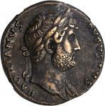 HADRIAN, A.D. 117-138. AE Sestertius (27.70 gms), Rome Mint, ca. A.D. 125-128.