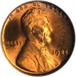 1925 Lincoln Cent. MS-65 RD (PCGS).