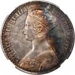 GREAT BRITAIN. Crown, 1847. NGC Proof AU Details--Obverse Scratched.