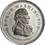 1799 (ca. 1800) Repub. Ameri Medal. Second Obverse. White Metal. 32.71 mm. Musante GW-62, Baker-69A.