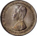 1876-1900年1 泰铢。拉玛五世。THAILAND. Baht, ND (1876-1900). Rama V. PCGS MS-64 Gold Shield.