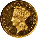 1880 Three-Dollar Gold Piece. MS-64 DPL (NGC).