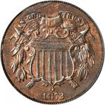 1872 Two-Cent Piece. MS-63 RB (PCGS).