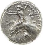TARENTUM/TARAS: AR didrachm 40nomos41 408。14g41, ca。 465-455 BC, Vlasto-133, HN Italy-827, Taras rid