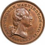 Circa 1860 Washington / Edward Everett muling by Joseph Merriam. Musante GW-322, Baker-214. Copper.