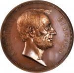 1865 (Post-1886) Abraham Lincoln Presidential Medal. Bronzed Copper. 77 mm. By George T. Morgan. Jul