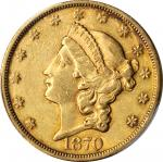 1870-S Liberty Head Double Eagle. EF Details--Tooled (PCGS).
