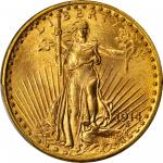 1914-D Saint-Gaudens Double Eagle. MS-65 (PCGS).