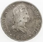 CHOPMARKED COINS: SPAIN: Fernando VII, 1808-1833, AR trade dollar, 1815-M, KM-466.3, Cal-505, assaye