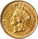 1889 Three-Dollar Gold Piece. AU-58 (PCGS). CAC.