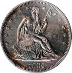 1884 Liberty Seated Half Dollar. WB-101. Proof-60 (PCGS).
