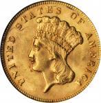 1878 Three-Dollar Gold Piece. MS-64 (NGC).