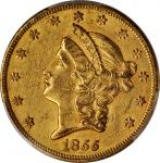 1855 Liberty Head Double Eagle. AU-58 (PCGS).