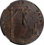 Great Britain—Middlesex. Undated (1790s) End of Pain Halfpenny token. D&H-831a, W-8994. Copper. Unci